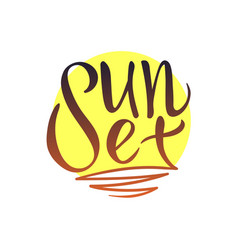 Sunset logo lettering vector