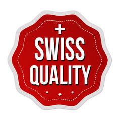 swiss quality label or sticker vector image