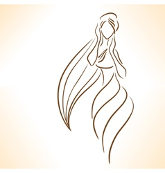 Symbolic silhouette of woman vector image