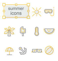 Thin line icons set linear symbols set vector