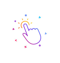 Touchpoint line icon click here sign vector