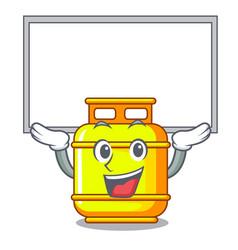 Up board flammable gas tank on cartoon the vector