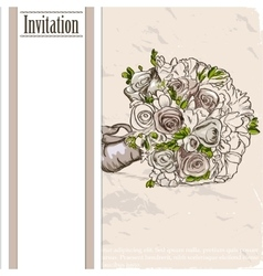 Vintage card with wedding bouquet vector