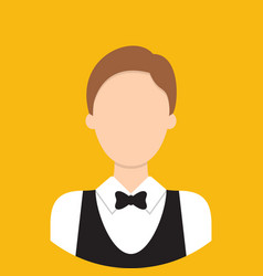waiter characte icon great of character use for vector image