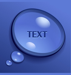 water speech bubble vector image