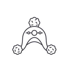 woolen hat line icon concept woolen hat vector image