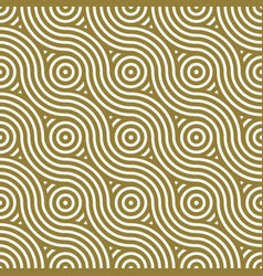 Yellow endless pattern created with thin undulate vector