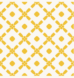 yellow seamless floral rhombuses art mesh pattern vector image
