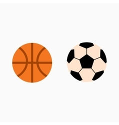 Ball isolated on white vector image vector image