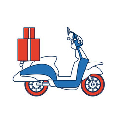 delivering motorcycle business transport service vector image vector image