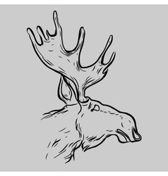Elk Head Animal Symbol vector image
