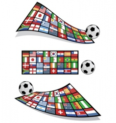 football flag banners vector image vector image