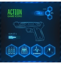 Game icon weapon vector image vector image