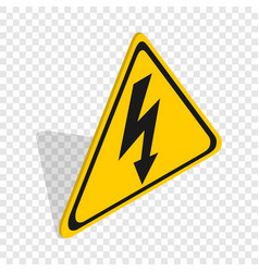 high voltage sign isometric icon vector image