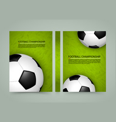soccer ball field banner sport cover a4 size vector image