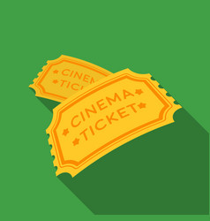 ticket icon in flat style isolated on white vector image vector image
