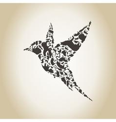 Bird an animal vector image vector image