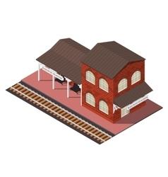 isometric railway station vector image