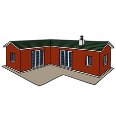 Red small house vector image