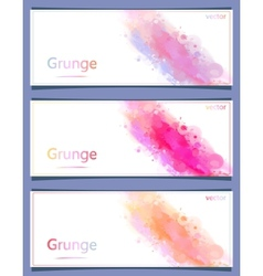 set of banners watercolor vector image