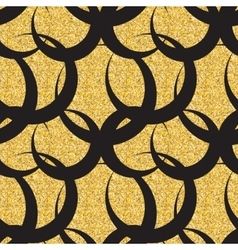 Abstract Simple Glossy Golden Seamless Pattern vector image