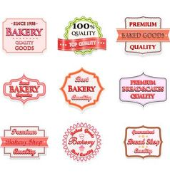 Collection of vintage bakery logo badges vector image