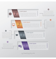 Modern infographic template design vector image vector image