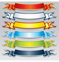 Set of Colorful Ribbons and Banners Image vector image vector image