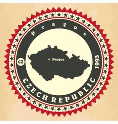 Vintage label-sticker cards of Czech Republic vector image vector image
