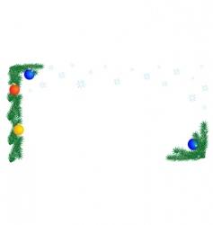 Christmas border on white background vector image