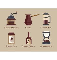 Coffee icon set menu Coffee beverages types vector image