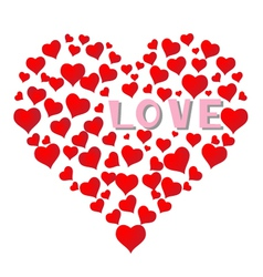 Falling in love with hearts background vector image vector image