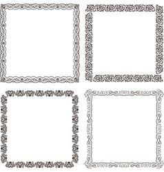 frames set Ornate and vintage design vector image vector image