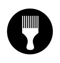 hairdresser rake comb isolated icon vector image vector image