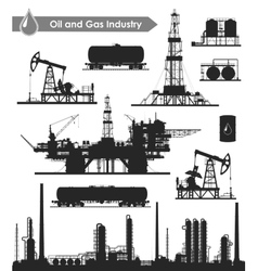 Oil industry set vector image vector image