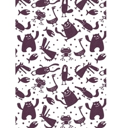 pattern with animals vector image