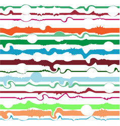 abstract colorful line seamless pattern fashion vector image