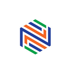 abstract hexagon business logo vector image