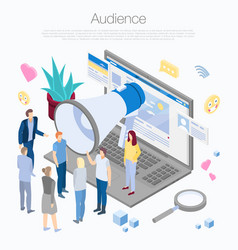 Audience concept background isometric style vector