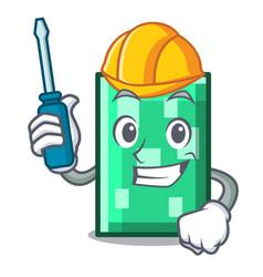 Automotive rectangle mascot cartoon style vector