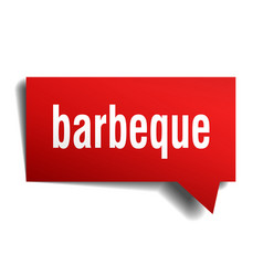 Barbeque red 3d speech bubble vector