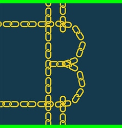 block chain bitcoin vector image