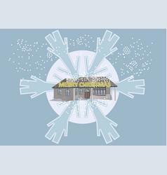 blue christmas fantasy vector image