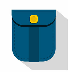 Blue shirt pocket with yellow button icon vector