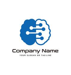 Brain design technology logo modern template vector