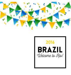 Brazil welcomes you symbols vector