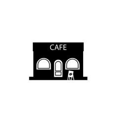cafe building icon vector image