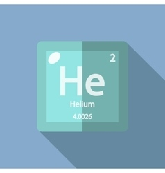 Chemical element Helium Flat vector