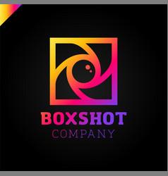 Color square camera shutter mark box photo camera vector