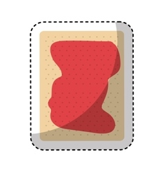 cookie with jam icon vector image